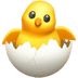 Hatching Chick emoji, Apple version of the Hatching Chick emoji