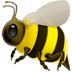 Honey Bee emoji, Apple version of the Honey Bee emoji