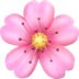 Cherry Blossom emoji, Apple version of the Cherry Blossom emoji