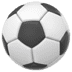 Soccer Ball emoji, Apple version of the Soccer Ball emoji