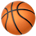 Basketball emoji, Apple version of the Basketball emoji