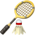 Badminton emoji, Apple version of the Badminton emoji