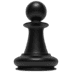 Chess Pawn emoji, Apple version of the Chess Pawn emoji