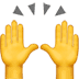 Raising Hands emoji, Apple version of the Raising Hands emoji