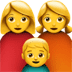 family of woman, woman and boy emoji