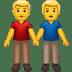 man holding hands emoji
