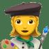 Woman artist emoji, art emojis,