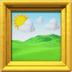 Framed Picture emoji, arts emojis, Apple version of the Framed Picture emoji