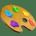 Artist Palette emoji, art emojis