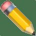 Pencil emoji, Apple version of the Pencil emoji