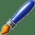 Paintbrush emoji, Apple version of the Painbrush emoji, arts emojis