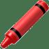 Crayon emoji, Apple version of the Crayon emoji