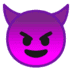 Google version of the Devil emoji, Devil emoji