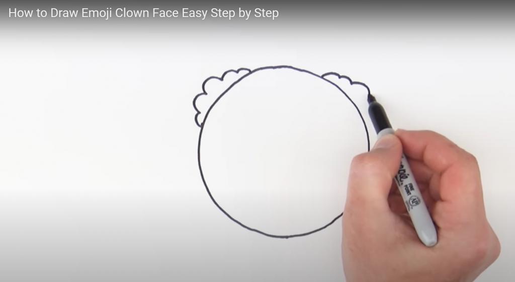 Clown emoji, how to draw a clown emoji