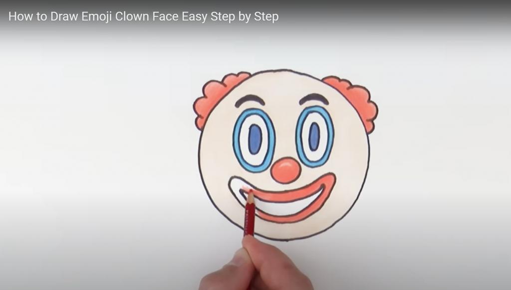 Clown emoji, draw a clown emoji
