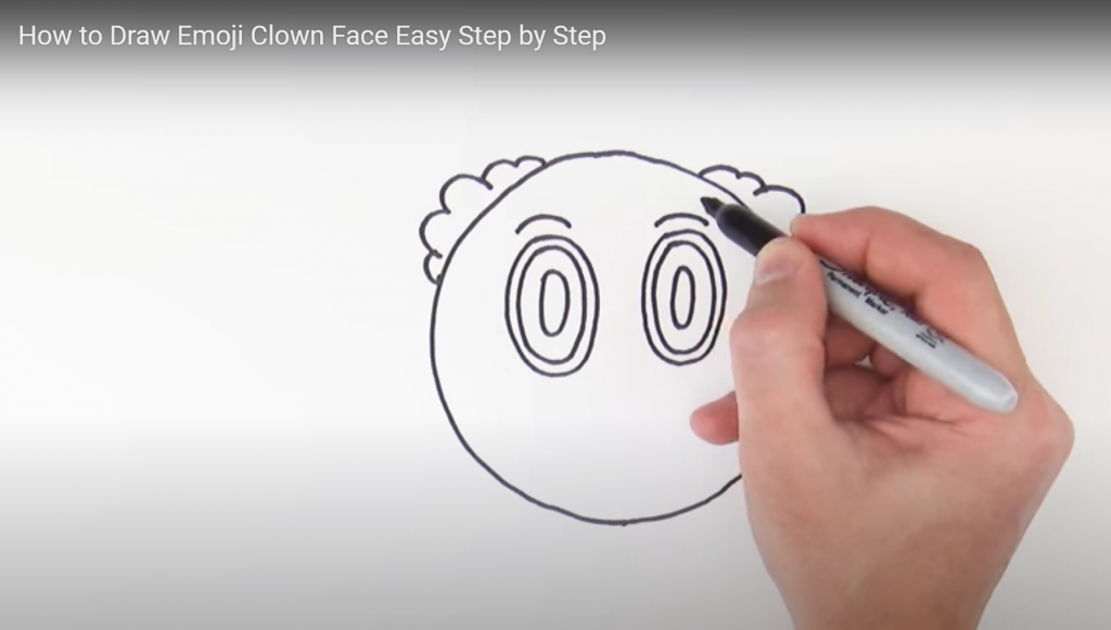 Clown emoji, how to draw clown emoji