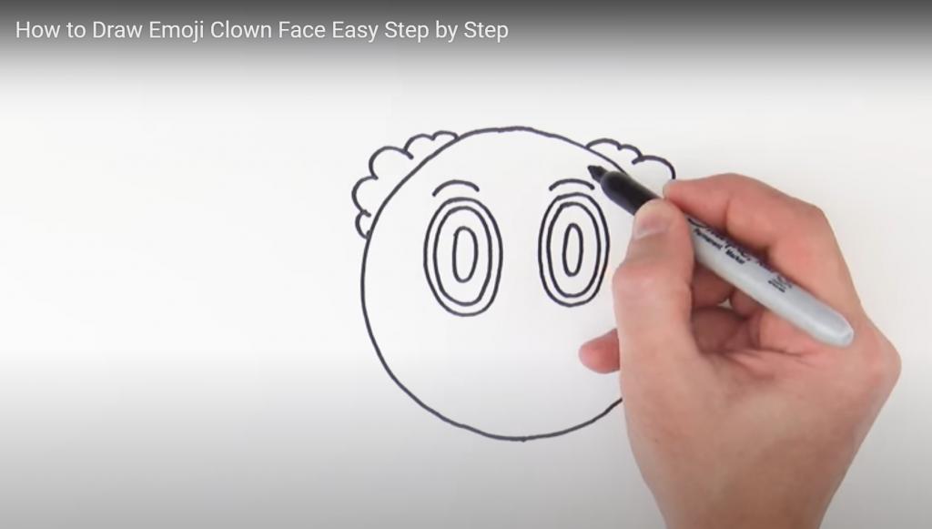 Clown emoji, how to draw clown emoji