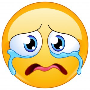 Sad emoji emoticon crying bitterly, Loudly Crying Face emoji