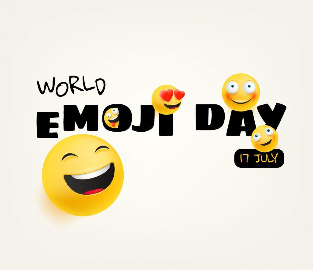 World Emoji Day banner, emojis, emojis on a banner