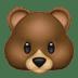 Bear emoji, Apple version of the Bear emoji