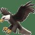 Eagle emoji, Eagle, Apple version of the Eagle emoji, American Flag emoji