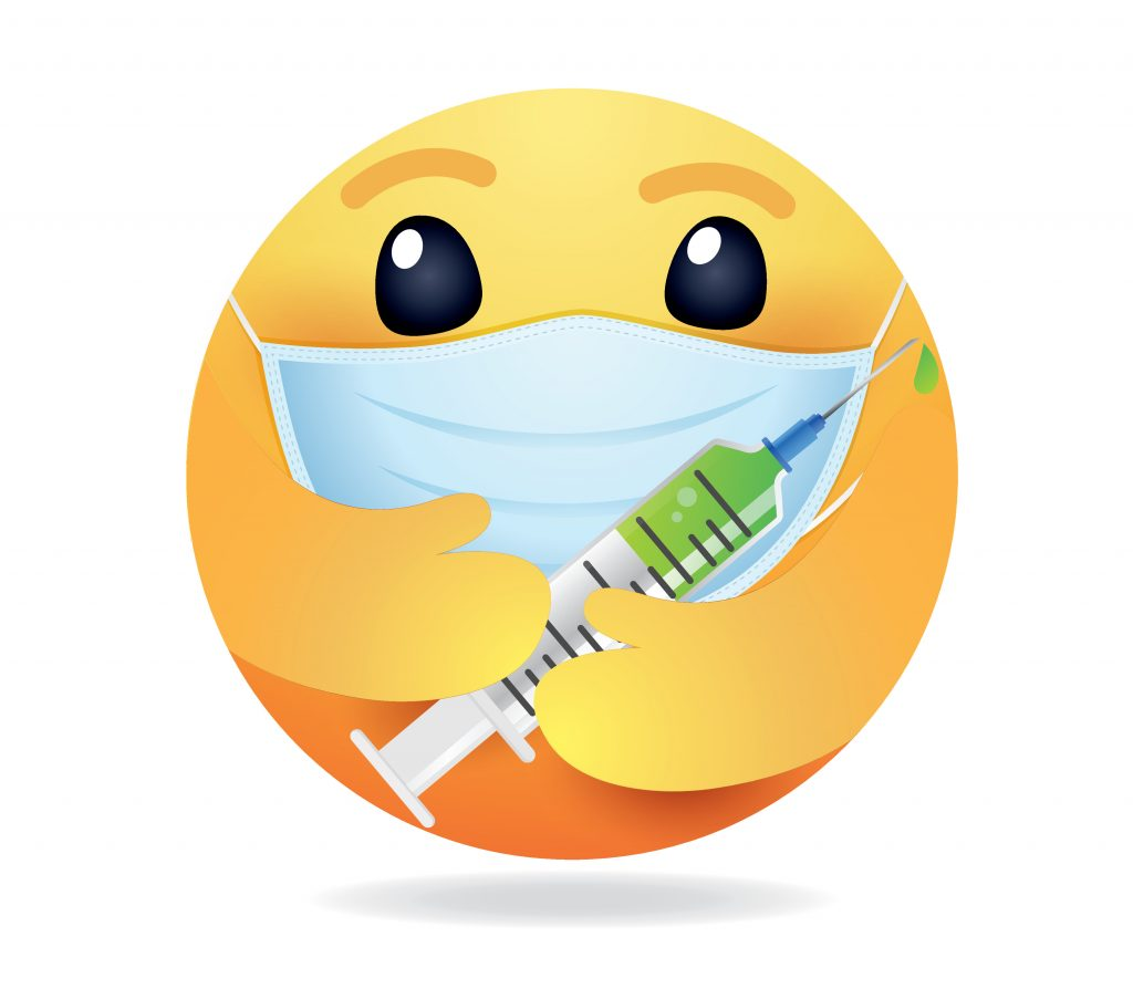 Face With Medical Mask emoji, smiley holding Syringe emoji, Face With Medical Mask emoji holding syringe
