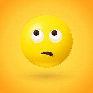 Eye Roll emoji, eye roll, Rolling Eyes emoji, Face With Rolling Eyes emoji