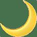 Crescent moon emoji, Moon emoji