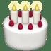 Birthday Cake emoji, Apple's Birthday Cake emoji