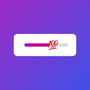 100 emoji on a white button, 100 emoji on a white scale