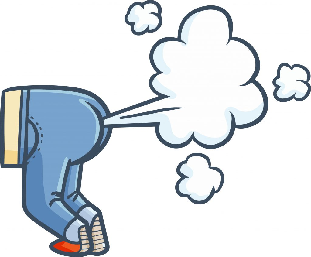 cartoon showing a butt farting, pair of pants spewing gas, illustration of a butt farting out gas, fart emoji