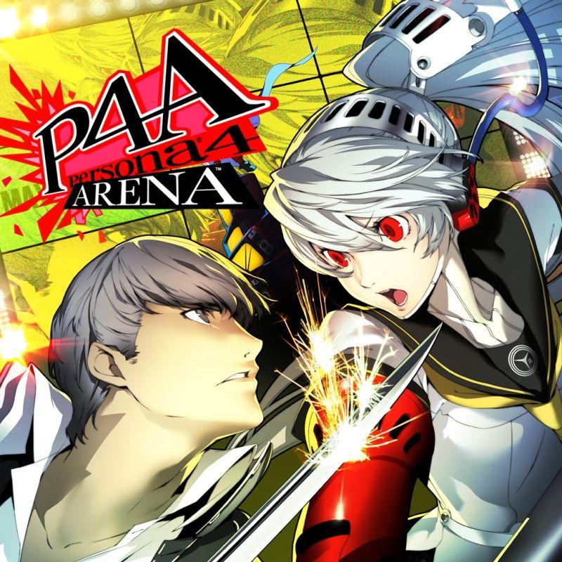 Persona 4: Arena characters, Persona 4: Arena main logo, Yu Narukami in battle