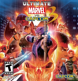 Ultimate Marvel Vs. Capcom 3, front cover art of Ultimate Marvel Vs. Capcom 3