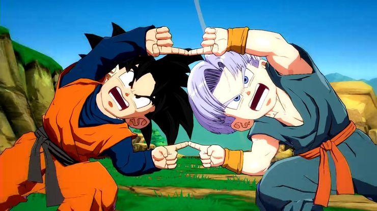Goku versus Goku Ultra Instinct, Goku and Goku Ultra Instinct fingers touching, Goku and Goku Ultra Instinct about to fight