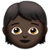 🧒🏿 child: dark skin tone Emoji on Apple Platform
