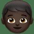 👦🏿 boy: dark skin tone Emoji on Apple Platform