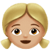 👧🏼 girl: medium-light skin tone Emoji on Apple Platform