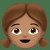 👧🏽 girl: medium skin tone Emoji on Apple Platform