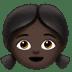 Girl: Dark Skin Tone