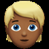 Medium Dark Skin Tone Blond Hair Person