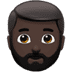 🧔🏿 man: dark skin tone, beard Emoji on Apple Platform
