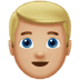 👱🏼‍♂️ man: medium-light skin tone, blond hair Emoji on Apple Platform