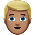 👱🏽‍♂️ man: medium skin tone, blond hair Emoji on Apple Platform