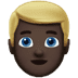 👱🏿‍♂️ man: dark skin tone, blond hair Emoji on Apple Platform