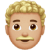 👨🏼‍🦱 Medium Light Skin Tone Curly Hair Man Emoji on Apple Platform