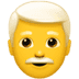 👨‍🦳 man: white hair Emoji on Apple Platform