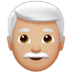 👨🏼‍🦳 man: medium-light skin tone, white hair Emoji on Apple Platform