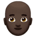 👨🏿‍🦲 man: dark skin tone, bald Emoji on Apple Platform