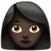 👩🏿 woman: dark skin tone Emoji on Apple Platform