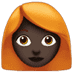 👩🏿‍🦰 woman: dark skin tone, red hair Emoji on Apple Platform
